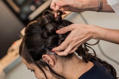 coiffure mariée brune