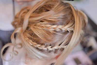 coiffure tresses blonde